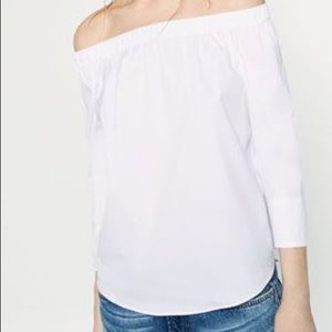 Zara Off the Shoulder White Blouse